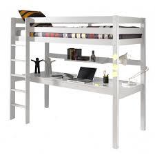 lit mezzanine bureau blanc lit mezzanine 90x200 avec bureau pin armance faustin blanc
