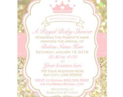 baby girl baby shower invitations princess baby shower invitation royal princess invite pink