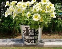 personalized flower pot personalized flower pots etsy