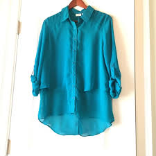 turquoise blouse cato silky turquoise blouse with layers from carol s closet on