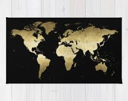 Black Gold Rug Hello Gorgeous Area Rug 2x3 Rug Black Gold Foil Quote Rug 3x5