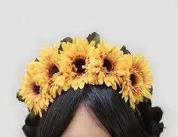 sunflower headband sunflower headband day of dead sunflower headpiece sunflower