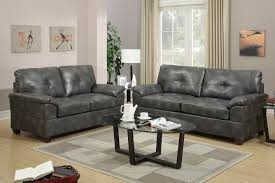 Leather Livingroom Sets Elimination Grey Leather Sofa And Loveseat Set Steal A Sofa