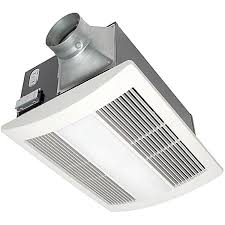 Non vented bathroom exhaust fan with light
