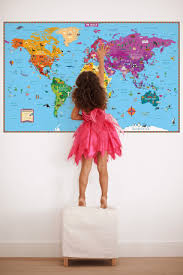Map Of The World Art by Kids U0027 Illustrated Map Of The World Rand Mcnally Store