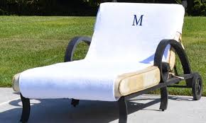 Chaise Lounge Cover Luxury Hotel Spa Chaise Lounge Cover With Optional Monogramming