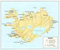 iceland map iceland maps perry castañeda map collection ut library