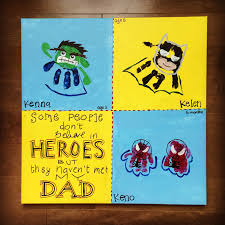 superhero father u0027s day gift that my kids made for my husband