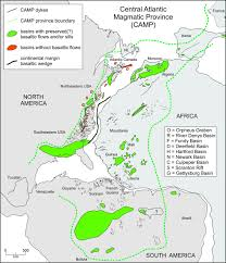 Nova Scotia Canada Map by Remnants Of Early Mesozoic Basalt Of The Central Atlantic Magmatic