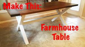 How To Build A Farmhouse Table Make This Farmhouse Table Youtube