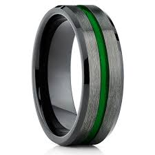 gunmetal wedding band green tungsten wedding band gunmetal tungsten wedding band
