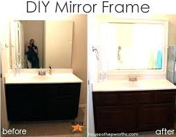 framing bathroom mirror ideas diy bathroom mirror frame ideas cheap jazz up your builder mirror