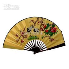 decorative fans 2018 blank white silk folding fans diy program