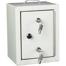 harloff 2810 small narcotics cabinet single door double lock