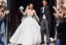 wedding dress images swarovski heiress s wedding dress sends into meltdown