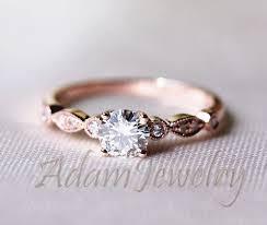 promise ring vs engagement ring fancy vs brilliant moissanite ring 14k gold accent diamonds