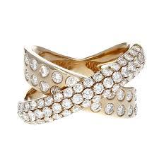diamond x ring 18k gold 1 78ct diamond x ring jewelry