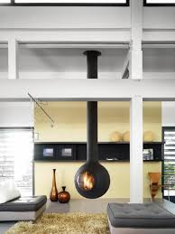 kaminofen design 20 einrichtungsideen für hängenden kaminofen im modernen haus