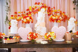 Bridal Shower Dessert Table Stylish Bridal Shower With Pops Of Punchy Shades U0026amp Lovely