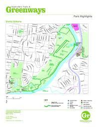 Tennessee On A Map by Nashville U003e Parks And Recreation U003e Greenways And Trails U003e Maps