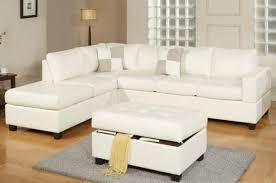 white leather ottoman with storage large white storage ottoman