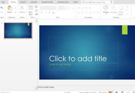 ion blue powerpoint template