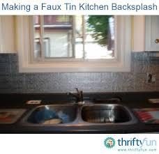 faux tin kitchen backsplash a faux tin kitchen backsplash thriftyfun