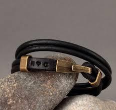 Customized Engraved Bracelets The 25 Best Custom Leather Bracelets Ideas On Pinterest Initial