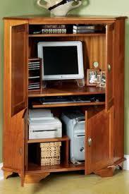 Corner Computer Armoire Corner Computer Armoire For Living Room Computer Desk