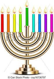 hanukkah menorah vector illustration of gold hanukkah menorah eps vectors search