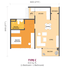 Midtown Residences Floor Plan by Pj Midtown