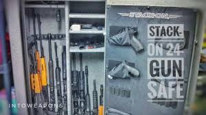 Wall Mounted Gun Safe Stack On 24 Gun Fire U0026 Waterproof Safe Review Youtube