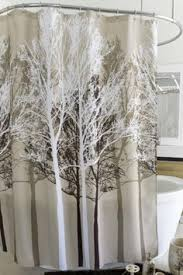 Curtains With Trees On Them Brown Bathroom And Tree Curtain Bathrooms Pinterest Brown