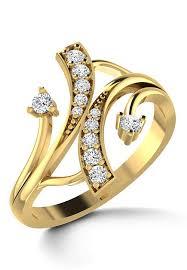diamond studded american diamond studded ring jvr138