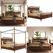 Island Bedroom Furniture by Tommy Bahama Home Island Estate West Indies Wood Poster Canopy Bed