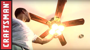 Craftsman Ceiling Fan How To Install A Ceiling Fan With Light Craftsman Youtube