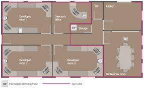 floor plan network design network layout floor plans solution conceptdraw com