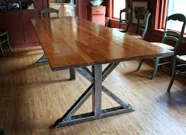 Zinc Top Bar Table Dining Table Metal Dining Table Bar Industrial Wood Reclaimed