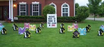graduation signs graduation hats and butterflies lawn greeting lawn signs
