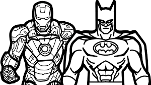 iron man and batman coloring book coloring pages kids fun art