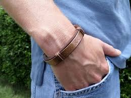 copper bracelet men images Mens leather and copper bracelet bracelet designs and ideas jpg