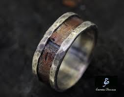 mens wedding ring rustic copper mens ring mens engagement ring mens wedding