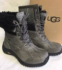 ugg s adirondack ii waterproof boot ugg australia adirondack ii charcoal grey waterproof sheepskin