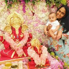 salman khan u0027s family creates a lotus garden for ganpati bappa