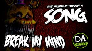 five nights at freddy s 4 song my mind lyric