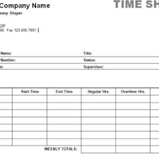 printable weekly time sheet template and form sample for office