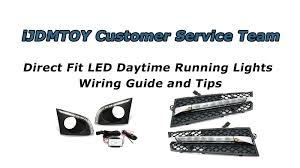 ijdmtoy direct fit led daytime running lights wiring guide and