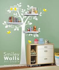 Nursery Tree Wall Decal Shelf Tree Wall Decal Children Wall Decal Nursery Decal Wall