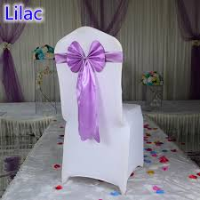 Chair Ties Lilac Colour Chair Sash Long Tail Butterfly Band Wedding Chair