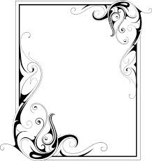 simple ornament frame vector material 02 ramki